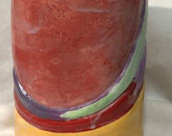 Glazed Abstract Ceramic Vase