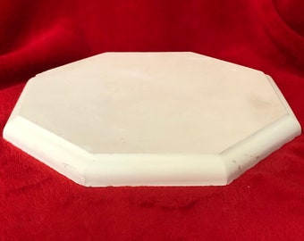Ceramic Diagonal Base in bisque ready to paint