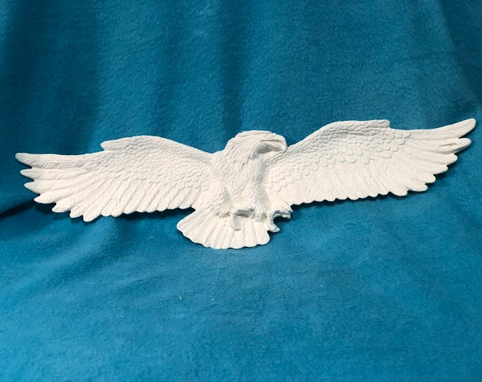 American Eagle Wall Hanging or Incense Holder Ceramic Bisque