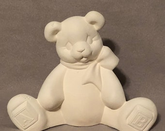 Alphabet Bear Ceramic Bisque
