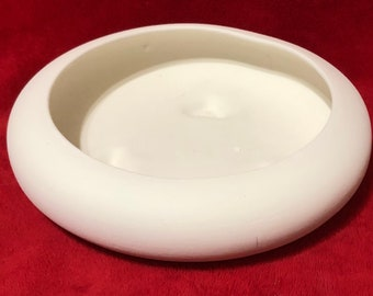 Rare Vintage Deco Bowl in ceramic bisque ready to paint