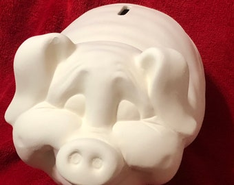 Piggy Bank in ceramic bisque ready to paint