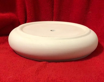 Ceramic Base in bisque with hole for light kit ready to paint