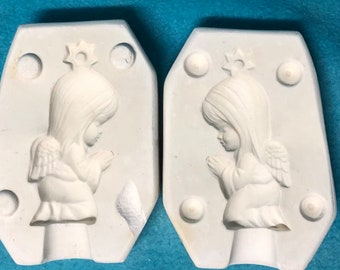 Angels Praying Ceramic Ornament Mold by Goody's Molds