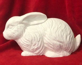 Very Rare Rabbit in ceramic bisque ready to paint