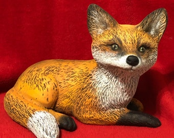 Dry Brushed Ceramic Fox Pup using Mayco Softee Stains