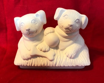 Mayco's Doggie Lid for the Large Classic Pickup Planter in ceramic bisque ready to paint