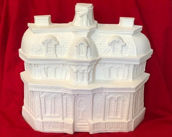 Vintage and Rare Byron Molds Haunted House in ceramic bisque ready to paint by jmdceramicsart