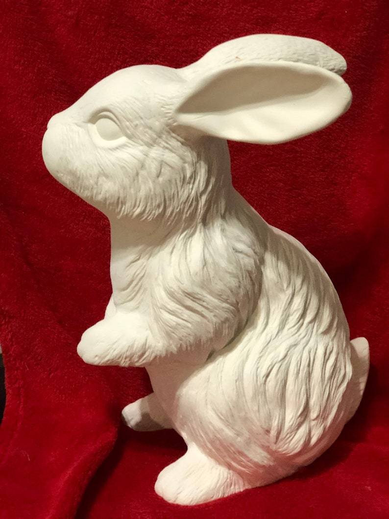 Sitting Rabbit in ceramic bisque ready to paint