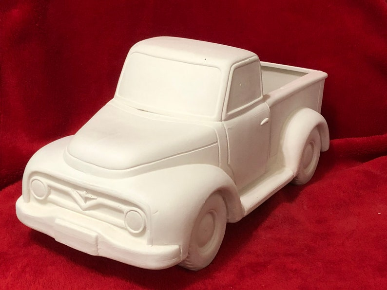 Large Mayco Classic Pickup Truck planter ceramic bisque image 0