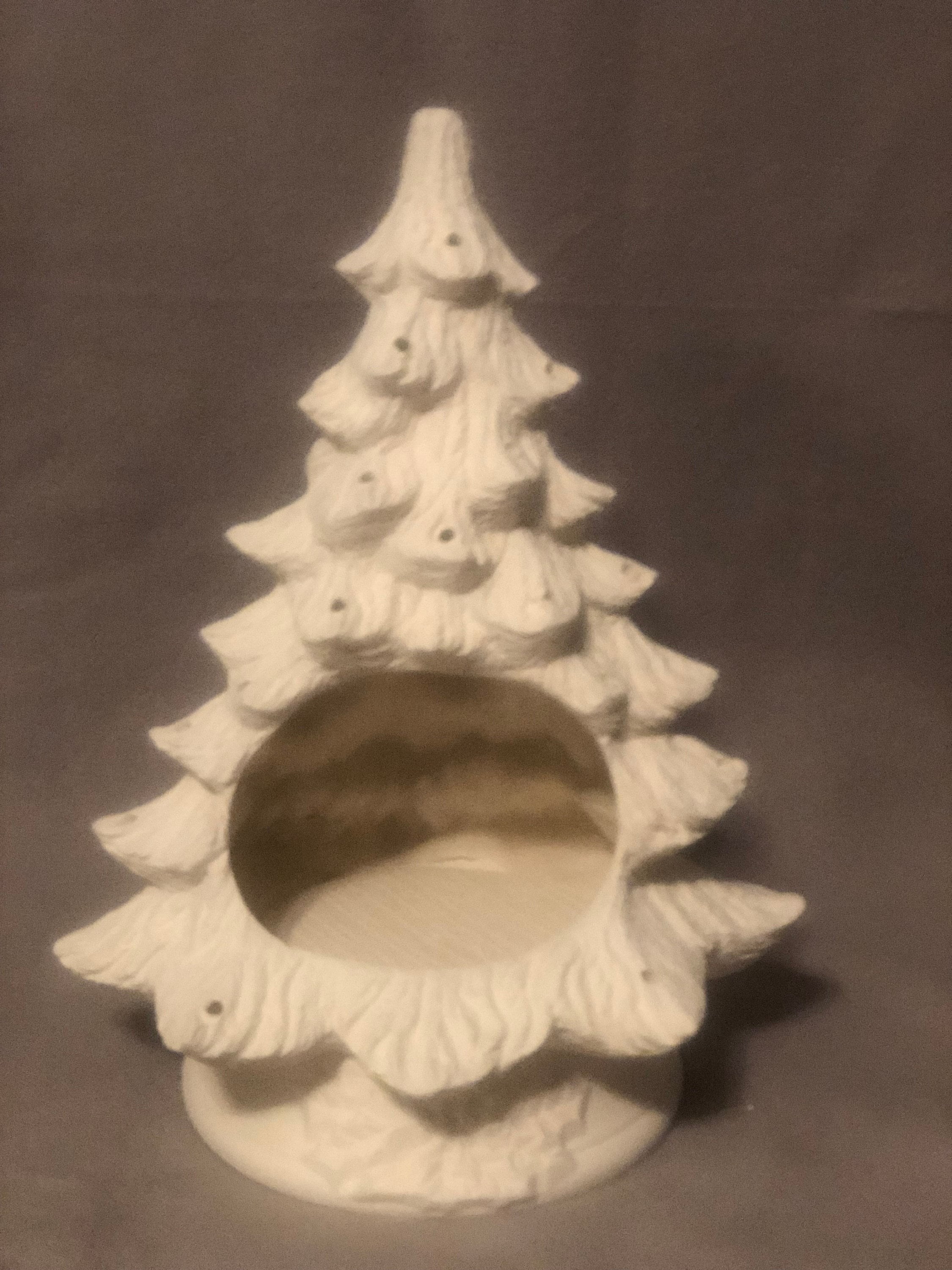 Nowell S Cut Out Ceramic Christmas Tree Bisque Ready To Paint