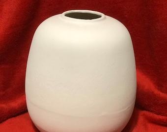 Egg Vase Ceramic Bisque by jmdceramicsart