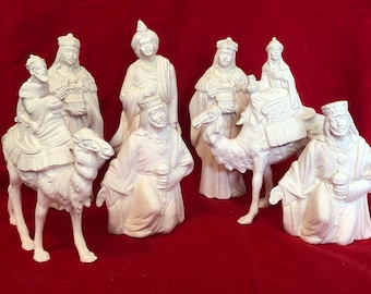 7 piece nativity pieces in ceramic bisque ready to paint