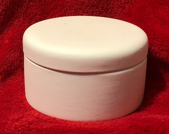 Rare Ceramic Trinket Box in bisque ready to paint by jmdceramicsart