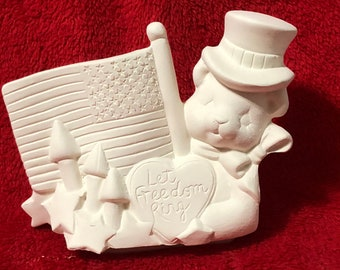 July 4th Insert for our Classic Pickup Box in ceramic bisque ready to paint