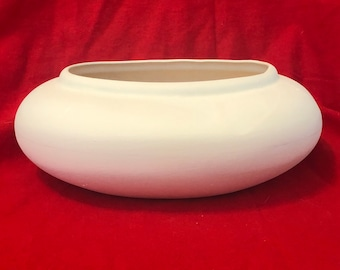 Rare Deco Bowl in ceramic bisque ready to paint by jmdceramicsart