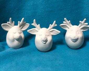 Reindeer Eggspressions Set of Three