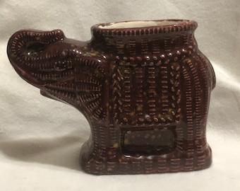 Firefly Burgundy Glazed Egyptian Elephant