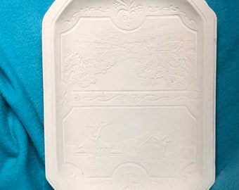 Ceramic Bisque Platter ready to paint
