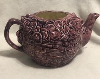 Plum Glazed Kettle Vase