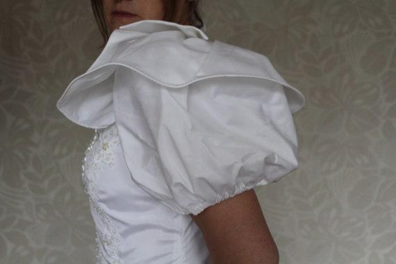 Balloon Sleeves Wedding Dress, Empire Wedding Dres