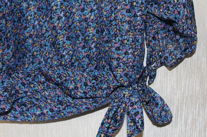 Vintage blouse 1990s blouse Summer blouse Vintage Floral Blouse Retro blouse oversize