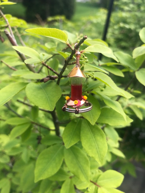 Dollhouse Miniature 1:12 Scale Humming Bird Feeder in Red