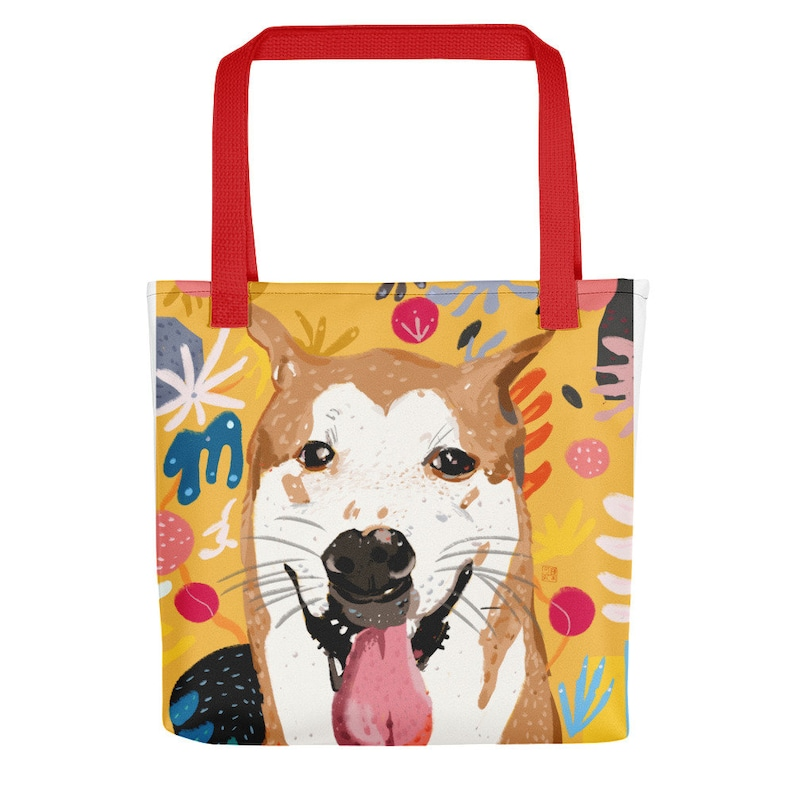 The Artist/'s Dog Yellow Tote bag BB