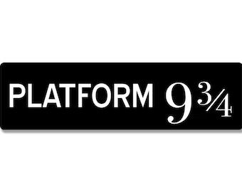 image regarding Platform 9 3 4 Sign Printable named System 9 34 Etsy