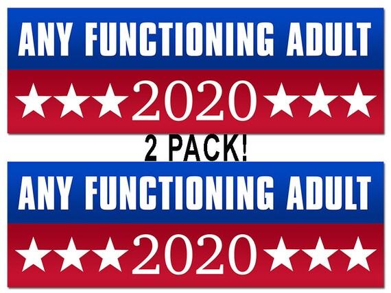 """2 pc 3x9/"""" Trump 2020 Red White /& Blue Bumper Sticker USA Seller"""