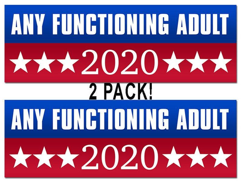Anti 3x8 inch I/'m Not a Democrat or Republican I/'m an American Bumper Sticker