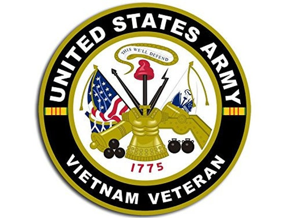 "2  U.S ARMY VETERAN  STICKERS  3/"" x 5/""  USA BADGES  MILITARY UNITED STATES"