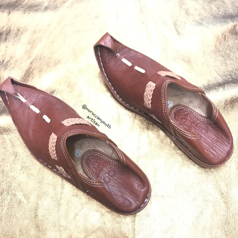 6d6aed1f5add3 Moroccan aladdin babouche women and men, leather shoes, leather  babouche,mules, womens leather babouche, handmade womens mens leather