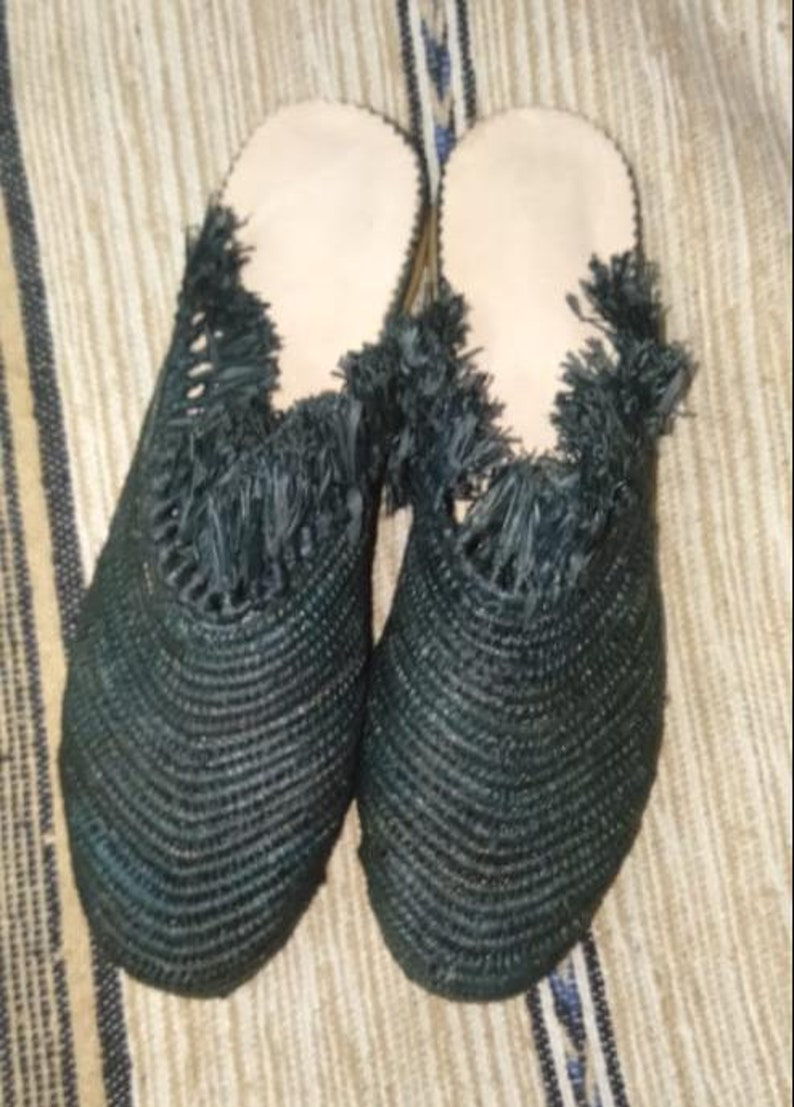 4aa7d3a9d587 Moroccan Shoes   Raffia style handmade sandales summer