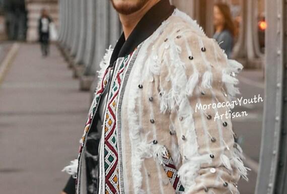 Et Garçon Toutes Taille MarocainHandiraFille Hommes Main Vintage Berbère À Enfants Veste La Femmes De kP80XnOw