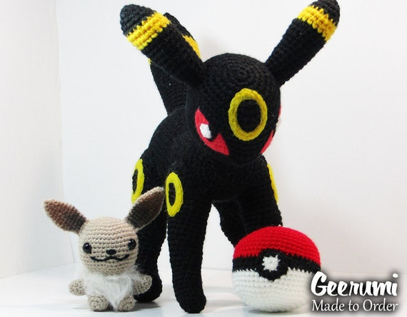 Crochet Umbreon Pokemon. These are big, some are life-size ... | 444x570