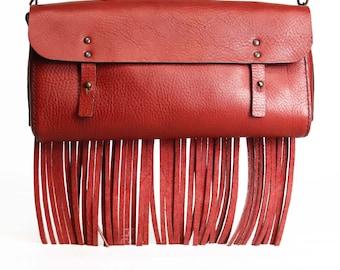 Frange - leather bag