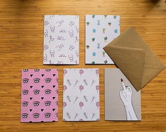 Pack x 5 Creative Cards with Envelops