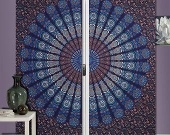 Gordijnen Als Roomdivider : Psychedelic curtains etsy