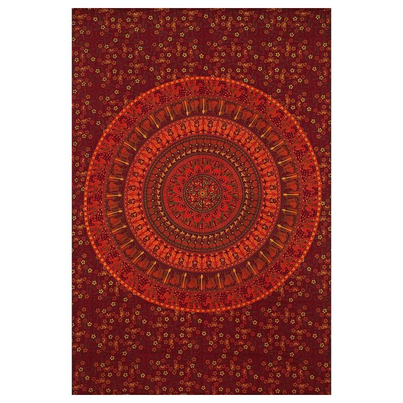 Handmade Cotton Indian Curtains  Bohemian Ombre Wall Hangings Twin Drape Valances Throw Dorm Decor Door Cover Curtain