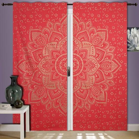 Mandala Window Door Cover Curtain Hanging Drape Portiere Mandala Decor Mandala 41 X 82 Inch Hippie Window Curtain Valances Room Divider