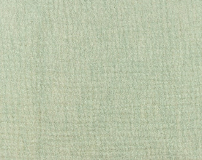 Featured listing image: Muslin mottled old green 0.5 m