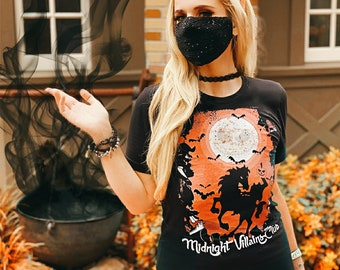 Midnight Villains Club Tee - ULTIMATE Villains Shirt With All Disney Villains & More