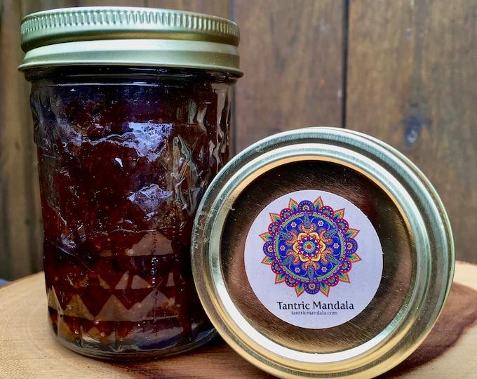 Healthy Orange Vanilla Fig Jam 8oz, Raleigh, North Carolina, Whole Food Plant Based Vegan
