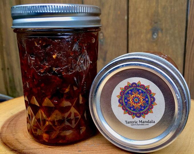Spicy Healthy Heirloom Tomato Jam 8oz, Raleigh, North Carolina, Whole Food Plant Based Vegan