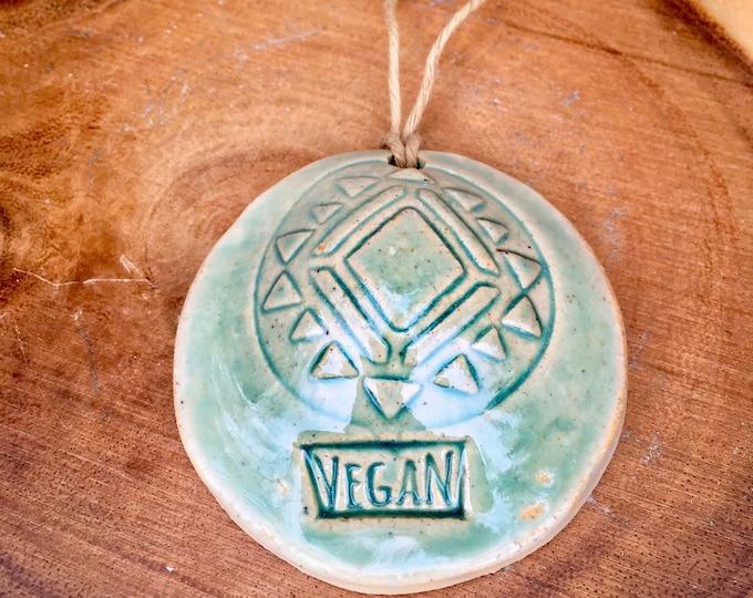Bohemian Spiritual Pottery Ornament: VEGAN