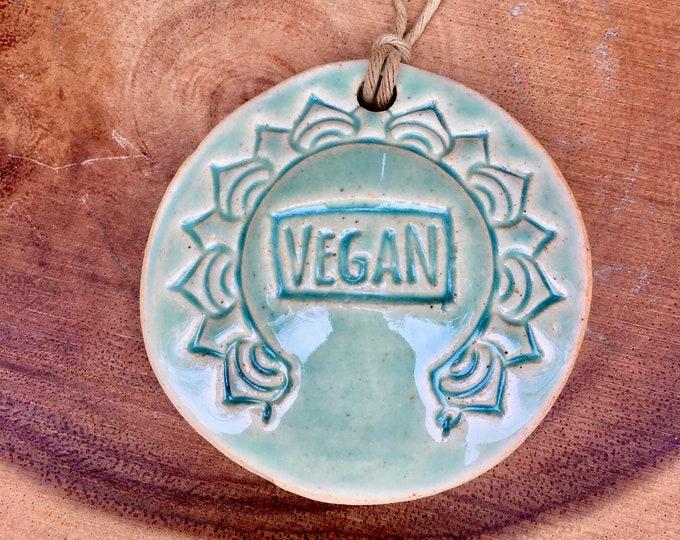 Bohemian Spiritual Mandala Pottery Ornament: VEGAN