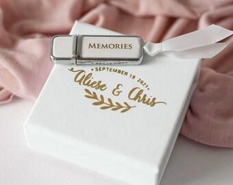 Flash Drive Box Custom USB Case Wedding USB Stick Personalized