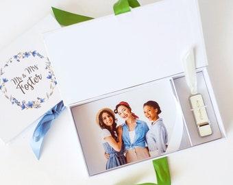 5x7 USB Photo Box Flash Drive Print Box Photo Storage Wedding Proof Box Photography Logo Gift