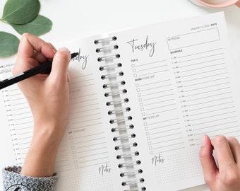 Personalised Daily Planner - 2022 Christmas Gift for Her, Custom Notebook Agenda Journal